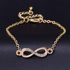 Vogue Women's Infinity Love Symbol Rhinestone Chain Bracelet Anklet Jewelry Gift