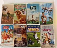 Lot of 8 VHS Movies Action Adventure Comedy PG Family Antz Dinosaurs Dogs