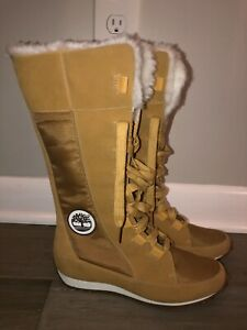 NEW Timberland  Women's Winter Tall Boots 23638 Tan Leather Lace Up Size 7 M