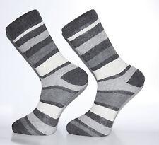 Alta Calidad Negro, Blanco Y Gris calcetines Rayados