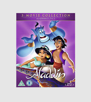 Aladdin 3-Movie Collection Blu-ray [Region B] Aladdin 1 2 & 3 Animated Movie NEW