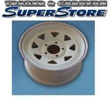 14″ ford Stud Pattern White Sunraysia Rim trailer WH24