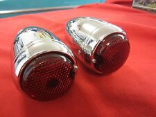 1939 Chevy Sedan Delivery  tail lights metal housing glass len in chrome