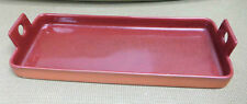 Paul Eshelman Pottery 1995 Rectangular Tray With Speckled Maroon Glaze!