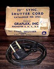 """OEM Graflex Inc. Female 20"""" Sync Shutter Cord Flash Cable No. 2701 Vintage w/box"""
