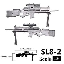 1/6 Scale For 12 inch Action Figure Rifle SL8-2 Weapon Gun Toy Model Military