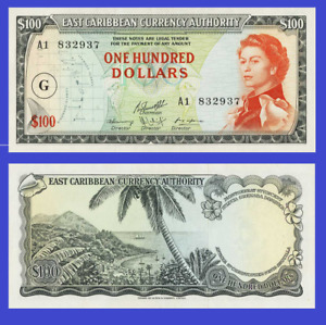 East c states 100 dollars 1960 UNC - Reproduction
