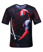 Deadpool Swords T-Shirt (all over 3d printed superhero deadpool t shirt)