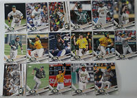 2017 Topps Series 2 Oakland Athletics A's Team Set of 17 Baseball Cards