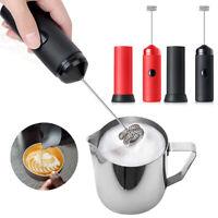 Elektrisch Milchaufschäumer Getränk Schäumer Schneebesen Mixer Rührer Kaffee