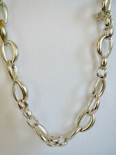 """Extra Large Silver Tone CHICO'S CHAIN LINK Runway Statement NECKLACE 34"""" OR 45"""""""