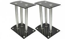 SUPPORTI ALTOPARLANTE in alluminio vetro nero 2pcs