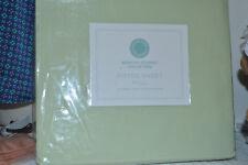 Martha Stewart Diamond Embroidered Stitch 400Tc Green Full Fitted Sheet Nip