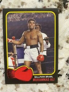 2021 TOPPS MUHAMMAD ALI PEOPLE'S CHAMP BLACK PARALLEL /56 CARD #61 BALLPARK BRAW