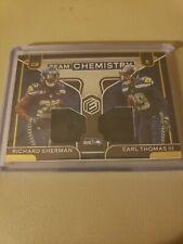 2020 Panini Elements Richard Sherman Earl Thomas Dual Patch #d /49 Seahawks