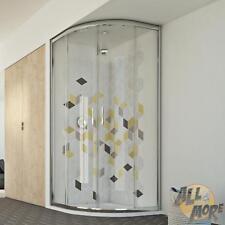 SHOWER ENCLOSURE CORNER QUADRANT 900X900 MM H1980 CLEAR GLASS SLIDING DOOR