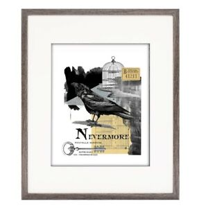 Black Crow Nevermore Collage Print, 5x7 matted to 8x10, NIP