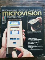 Boxed MB Microvision Vintage 1979 Computer Game System 3 cart's LCD not working