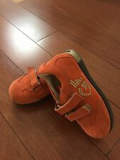 New GF Ferre Girl Baby Toddler Suede Orange Sneakers Shoes 22 6