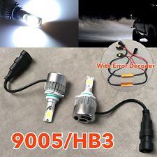 HIGH BEAMS 36W X2 3800LM LED 9005 DRL Bulbs NO ERROR HIGH POWER COB White W1 J