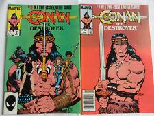Conan-The Destroyer 1+2 (1985 EE. UU./us Marvel Comic) - formaci. 1 -