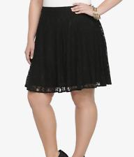 e1178d0717573 Torrid - Black Lace Skater Skirt - Size 16 - NWT