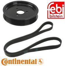 For BMW E36 E39 E46 E53 Set Of Pulley 131 mm Diameter & Belt 6K X 1538 Kit