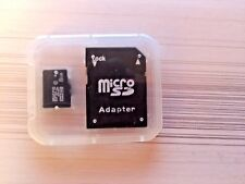Memory Card 8gb micro SDHC generic   Adapter in clear case