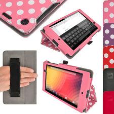 Pink PU Leder Tasche Hülle Case für Neue Google Nexus 7 FHD 2. Gen August 2013