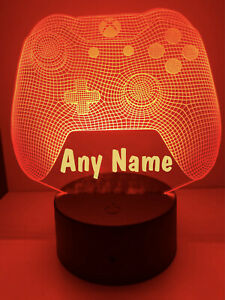 Personalised LED Multi Colour Gamer Game Controller Night Light Sign - Any Name