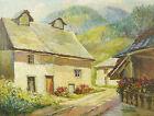 André COUCHET (Xx) View A Hamlet IN Mountain Landscape Postimpressionniste