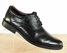 Van Heusen Men's Size 10.5 M Black Oxford Dress Shoes pre Owned