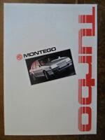 MG MONTEGO TURBO orig 1986 French Mkt Sales Brochure Deplaint - Austin Ref EO254