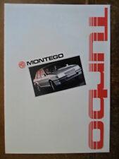 Mg Montego Turbo Orig 1986 francés Mkt folleto de ventas deplaint-Austin ref EO254
