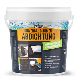 EVERFIX Bitumen Abdichtung - hochelastische Dichtmasse, rissüberbrückend (1 kg)