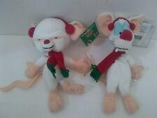 Rare Animaniacs Pinky and the Brain Christmas Plush Lot New With Tags