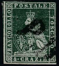 ITALY/ Tuscany 1851 LION SC#6a used w/WMK CV$325.00 not EXPERTIZED, SOLD AS IS