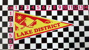 Vintage Style Lake District Cumbria Holiday Pennant Classic Car Window Sticker