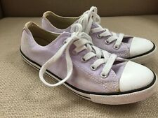 CONVERSE ALL STAR LAVENDER LIGHT PURPLE CANVAS DAINTY OXFORDS SNEAKERS SIZE 6