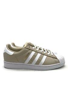 Adidas Superstar (Men's Size 11.5) Casual Tennis Shoe Beige Gold White Sneaker