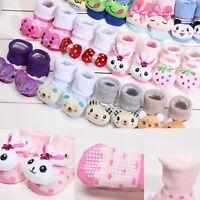 Wondrous Baby Girls Boy Anti Slip Cotton Socks Boots Shoes Cartoon 0-12 Months