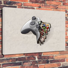 "Xbox Controller Ribcage Heart Printed Canvas Picture A1.30""x20"" 30mm Deep"