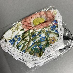 Charo Ruiz Botanic Bliss Reusable Fabric/Cloth Face Mask, Floral Print Designer