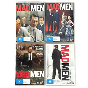 Mad Men Complete Series 1-4 DVD LOT R4, M, 2007 TV Drama