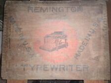 Antique REMINGTON TYPEWRITER Wooden Crate Box Only, Collectible Advertising...