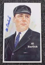 Al Barlick Signed Autographed HOF Perez-Steele Postcard Baseball MLB Collectible