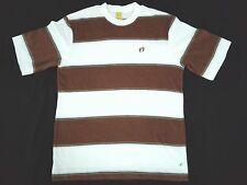 VINTAGE HANG TEN TERRY CLOTH STRIPED SOFT TEE T SHIRT MEDIUM Orange Tag Label