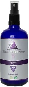 Colloidal silver, 100ppm True colloidal Silver, Safest type for humans 99.99%