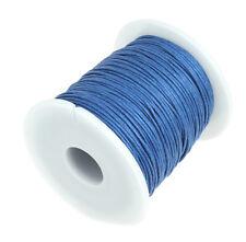 75m Baumwollband Baumwollschnur Baumwollkordel 1mm rund gewachst hellrot