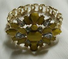 fashion women girl bracelet yellow colour gold plated